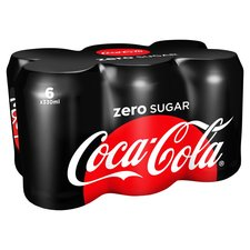 Coca Cola zero blik 6x330ml