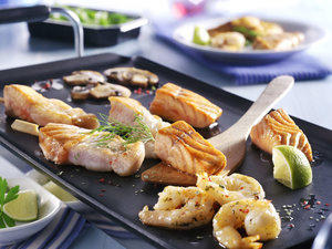 Gourmet vis menu met bakplaat
