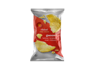 Gwoon Ribbelchips naturel