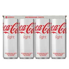 Coca Cola light blik 8x250ml